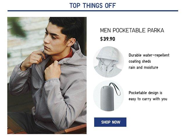 MEN POCKETABLE PARKA - SHOP ACTIVE OUTERWEAR