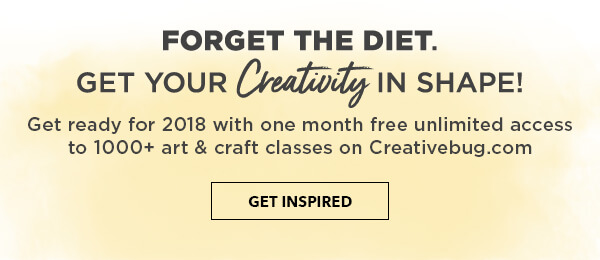 Forget the diet, get your creativity in shape. Get Inspired.