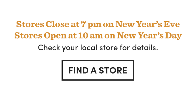 Check Your Local Store For New Year's Hours