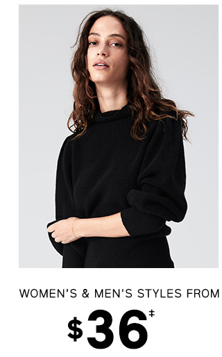 WOMENS & MENS STYLES FROM $36
