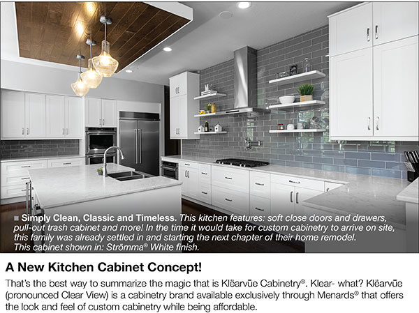 Menards Now Is The Time To Check Out Klearvue Kitchen Cabinetry Milled