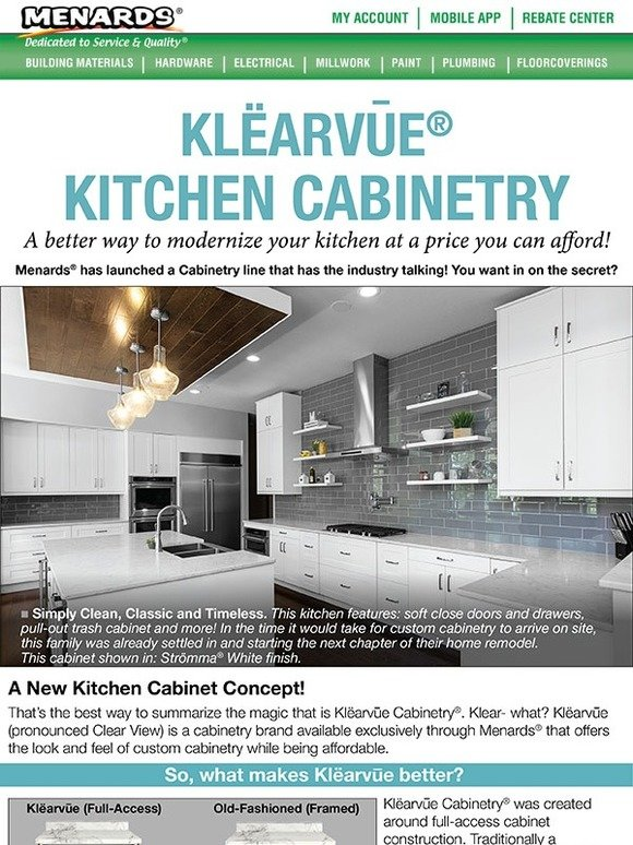Menards Now Is The Time To Check Out Klearvue Kitchen
