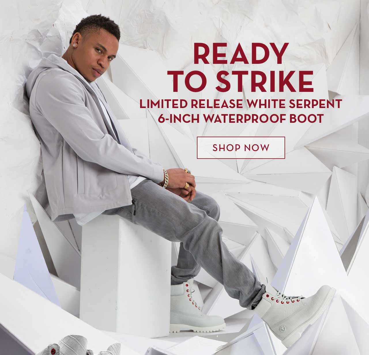 Ready To Strike Limited Release White Serpent 6-Inch Waterproof Boot Shop Now