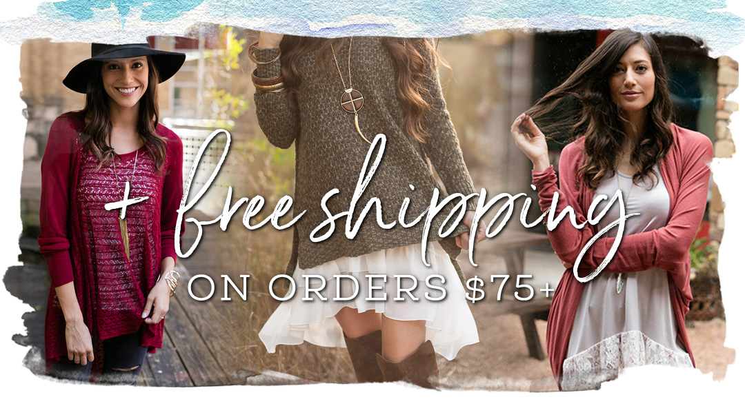 + Free Shipping on Orders $75+