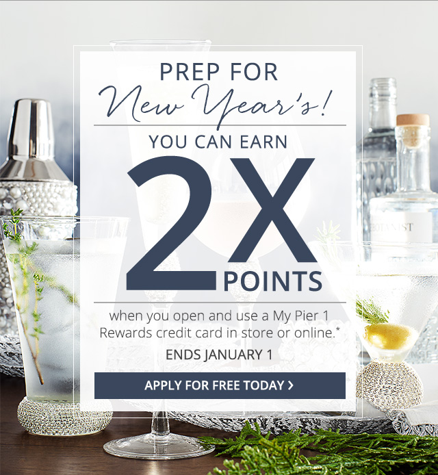 Apply for Free to earn Double Points
