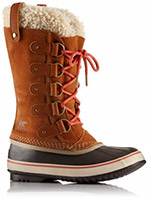 A profile view of a winter boot.