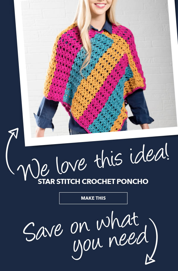 We Love This Idea. Star Stitch Crochet Poncho. MAKE THIS.