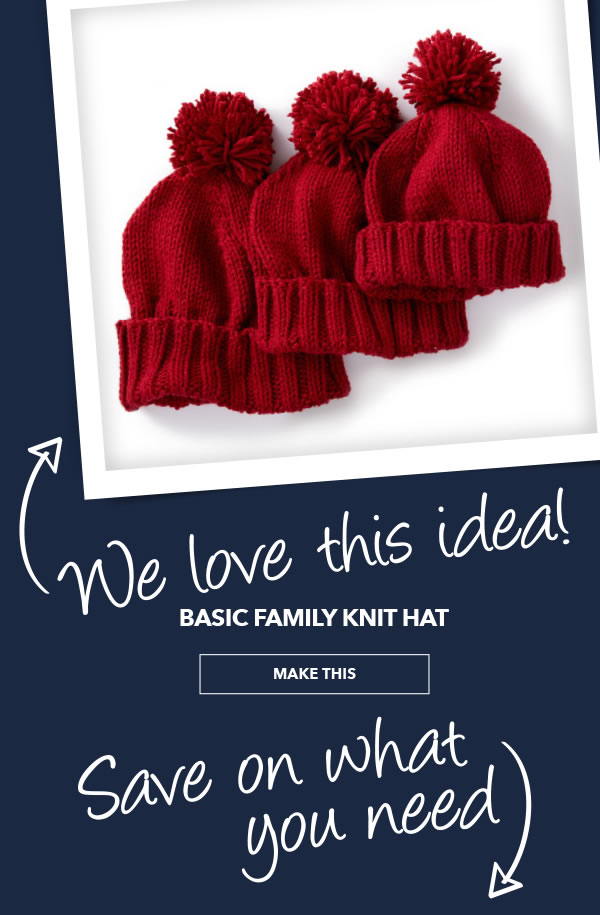 We Love This Idea. Basic Family Knit Hat. MAKE THIS.