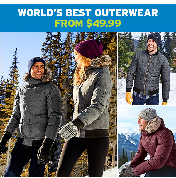 WORLD'S BEST OUTERWEAR FROM $49.99 | SHOP MEN'S OUTERWEAR