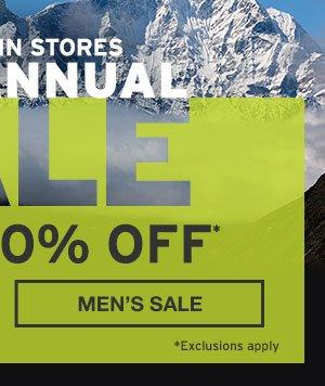 UP TO 60% OFF | SHOP MEN'S SALE