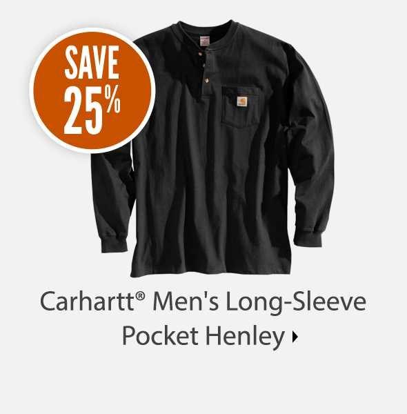 Carhartt Men's Long Sleeve Pocket Henley