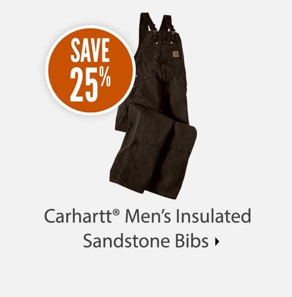 Carhartt Men's Insulated Sandstone Bibs