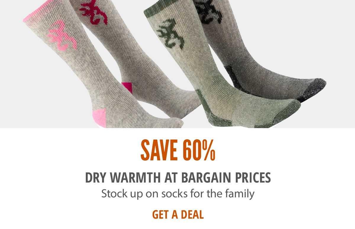 Save 60% on Socks
