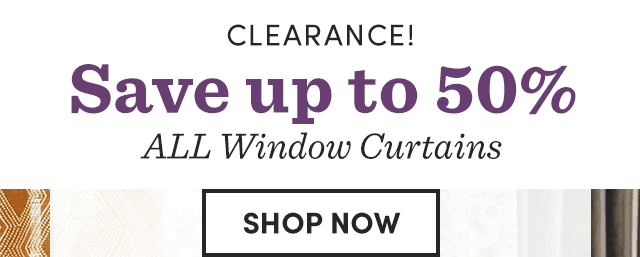 Save Up To 50% All Window Curtains