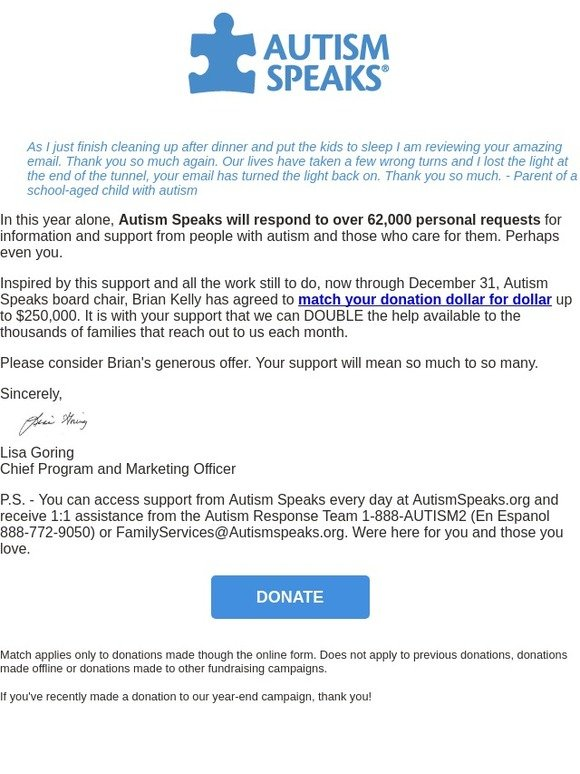 Autism Speaks: How your dollars help people today | Milled