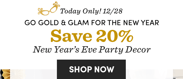 Save 20% New Year's Eve Party Decor