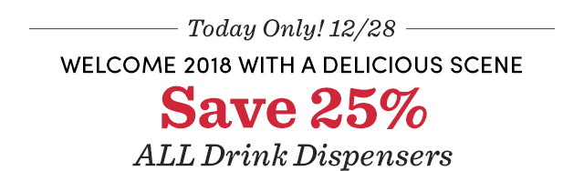 Save 25% All Drink Dispensers