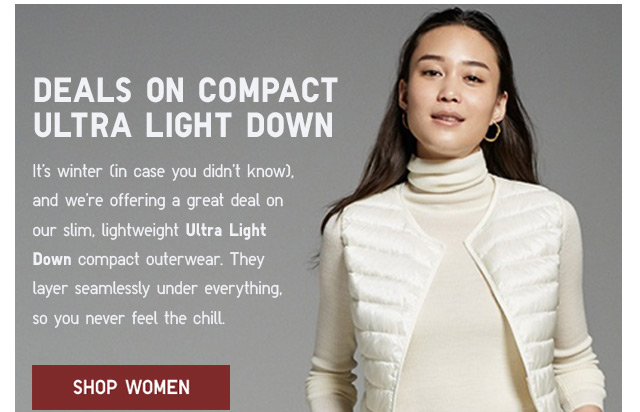 DEALS ON COMPACT ULTRA LIGHT DOWN - SHOP WOMEN