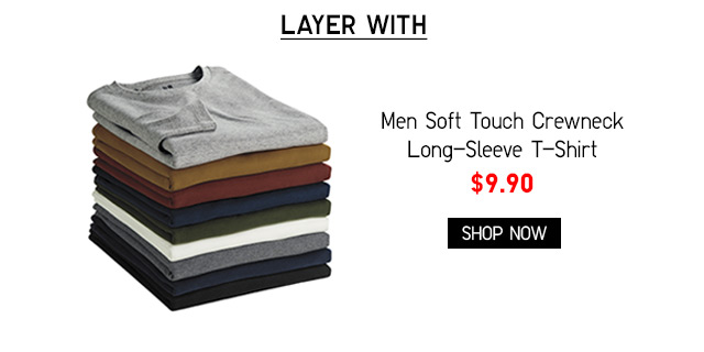 Men Soft Touch Crewneck Long-Sleeve T-Shirt