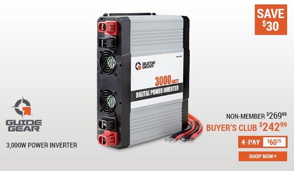 Guide Gear 3,000W Power Inverter