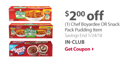 Chef Boyardee OR Snack Pack Item