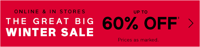THE GREAT BIG WINTER SALE
