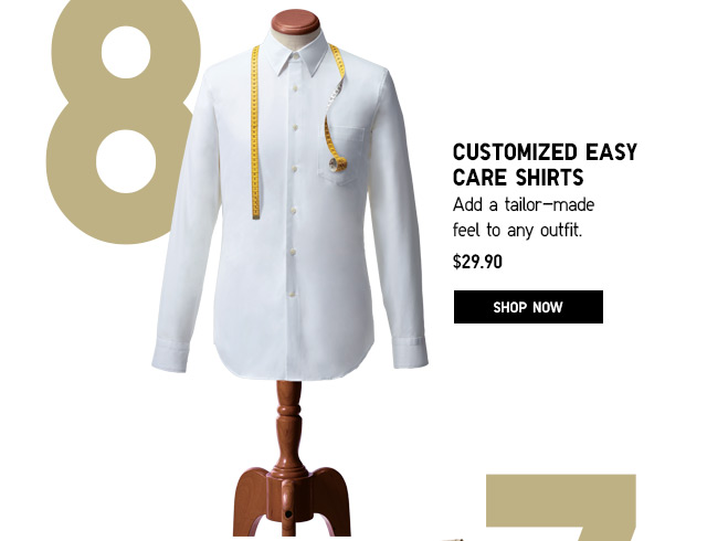 CUSTOMIZED EASY CARE SHIRTS