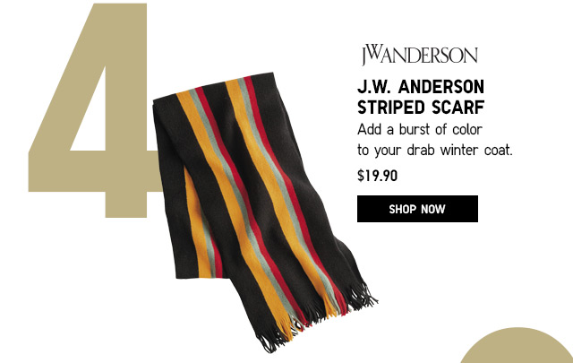 J.W. ANDERSON STRIPED SCARF - SHOP NOW