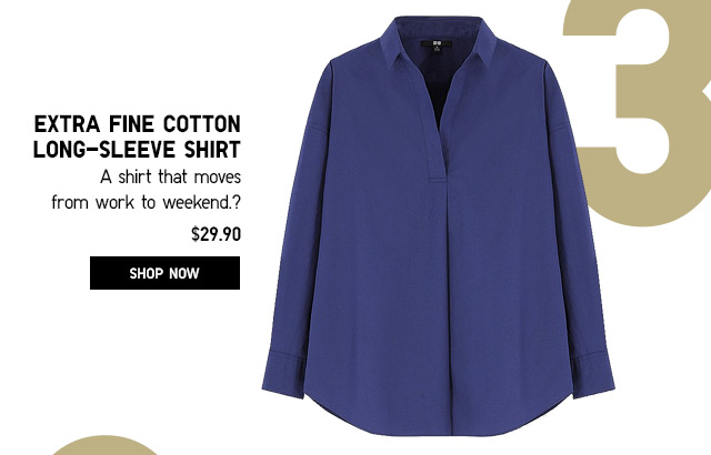 WOMEN'S EXTRA FINE COTTON LONG-SLEEVE SHIRT - SHOP NOW