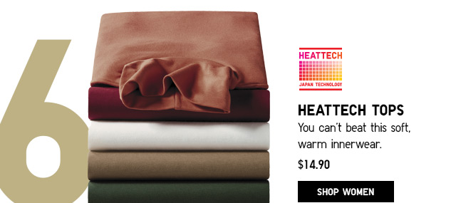 HEATTECH TOPS - SHOP WOMEN