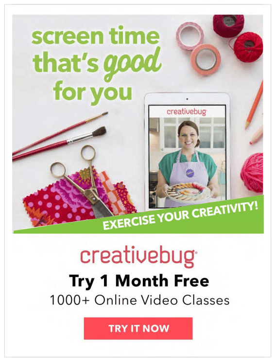 CreativeBug Wellness Campaign.