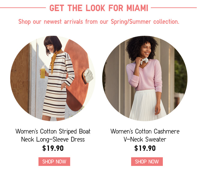 GET THE LOOK FOR MIAMI - SHOP WOMENS NEW ARRIVALS