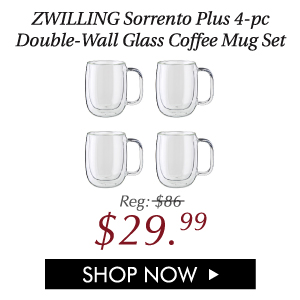 Sorrento Plus 4-pc Double-Wall Glass Coffee Mug Set