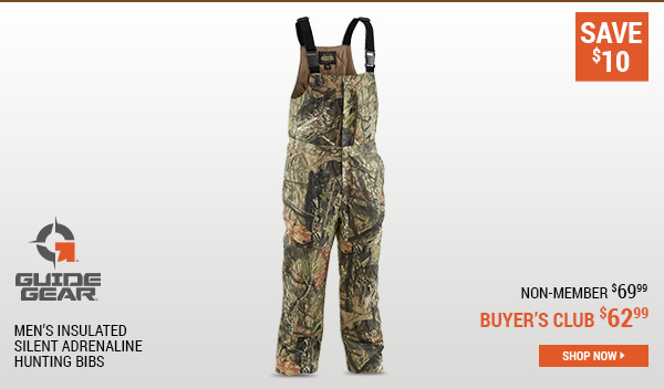Guide Gear Men's Insulated Silent Adrenaline Hunting Bibs