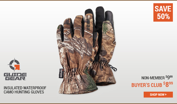 Guide Gear Insulated Waterproof Camo Hunting Gloves