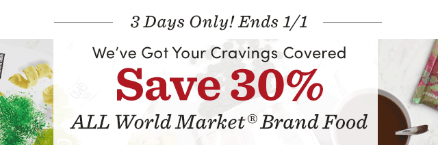 Save 30% All World Market Brand Food