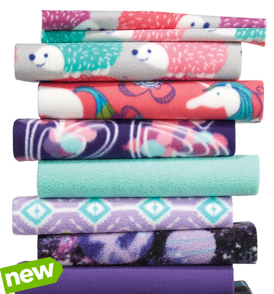 ENTIRE STOCK Blizzard and Anti-Pill Fleece Solids and Prints.