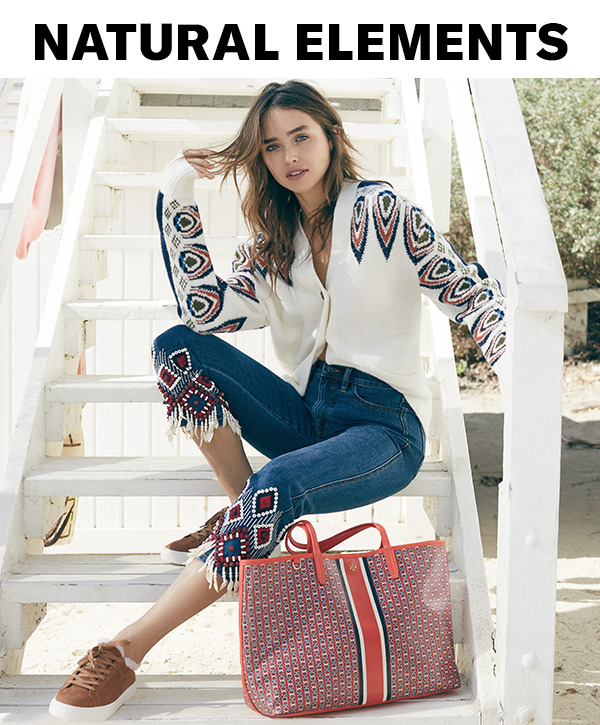 For her latest collection, Tory Burch refreshes the classics with eclectic details, like seashells, wooden beads, and embroidery.