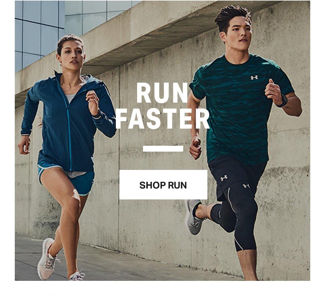 RUN FASTER - SHOP RUN