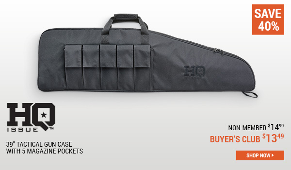 HQ ISSUE 39 Inch Tactical Gun Case with 5 Magazine Pockets