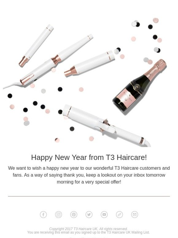 T3 Haircare UK: Happy New Year from T3 Haircare   Milled