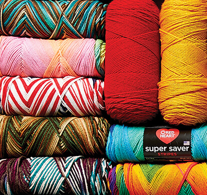 Red Heart Super Saver Yarn.