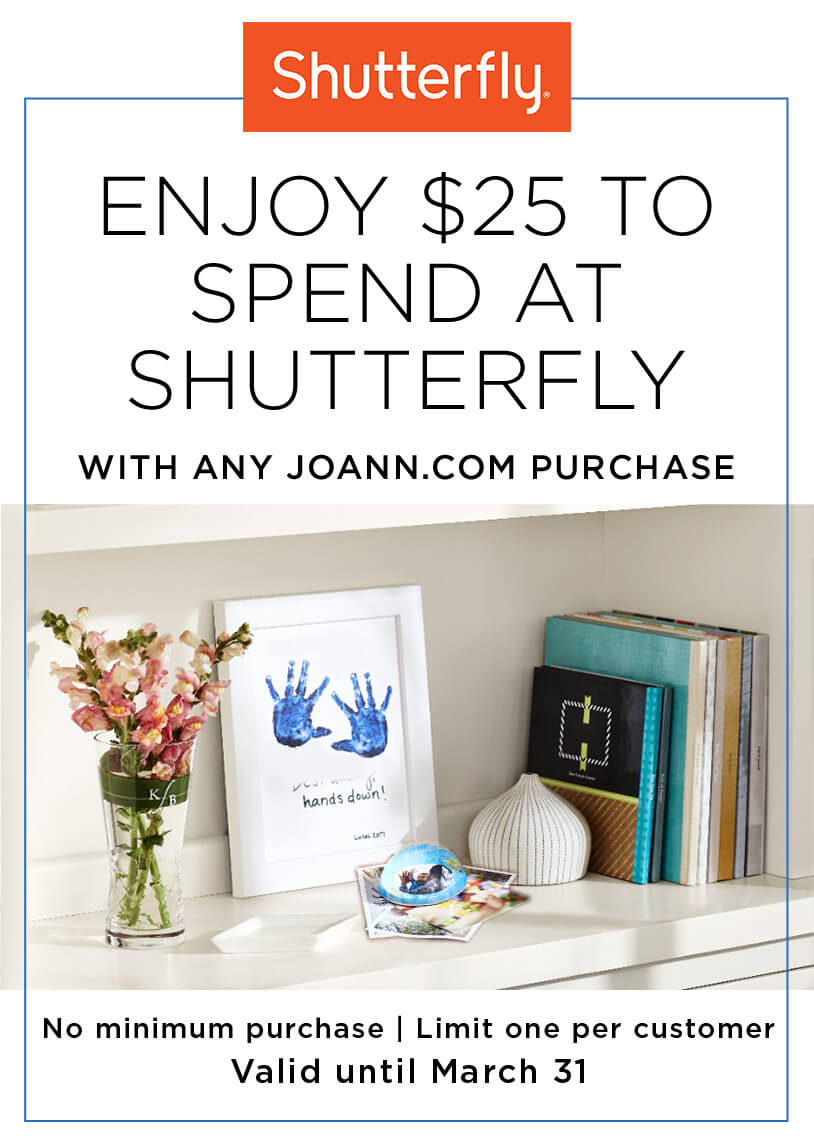 Shutterfly Gift with Purchase. 1/1-3/31.