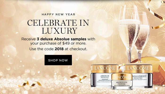 HAPPY NEW YEAR CELEBRATE IN LUXURY - SHOP NOW