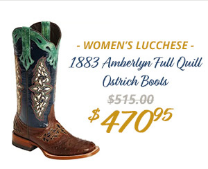 Womens Lucchese 1883 Amberlyn Full Quill Ostrich Boots