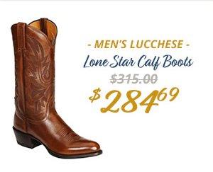 Mens Lucchese Lonestar Calf Boots