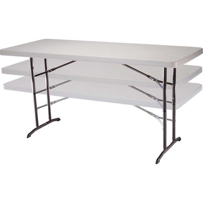 Beau Lifetime 6u0027 Adjustable Utility Table