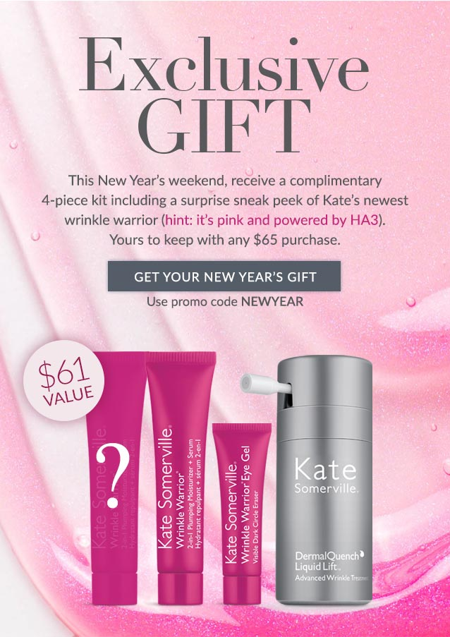 This New Year's weekend, receive a free 4-piece kit ($61 value) with any $65 purchase. Use promo code NEWYEAR. SHOP NOW>