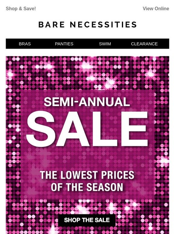 de5a19e71ac Bare Necessities: 2018 is HERE and so is Our Semi-Annual Sale! 🎉 | Milled