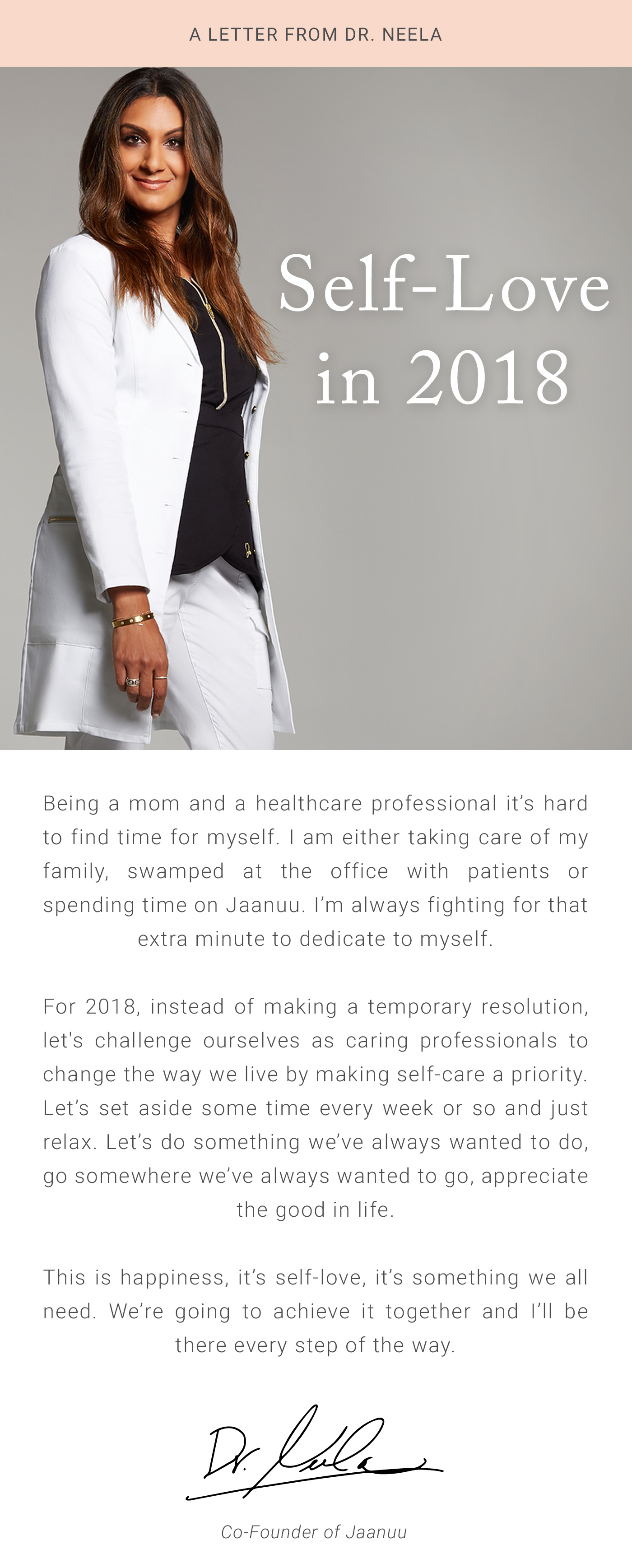 44787020091 Jaanuu: Message from Our Co-Founder Dr. Neela | Milled